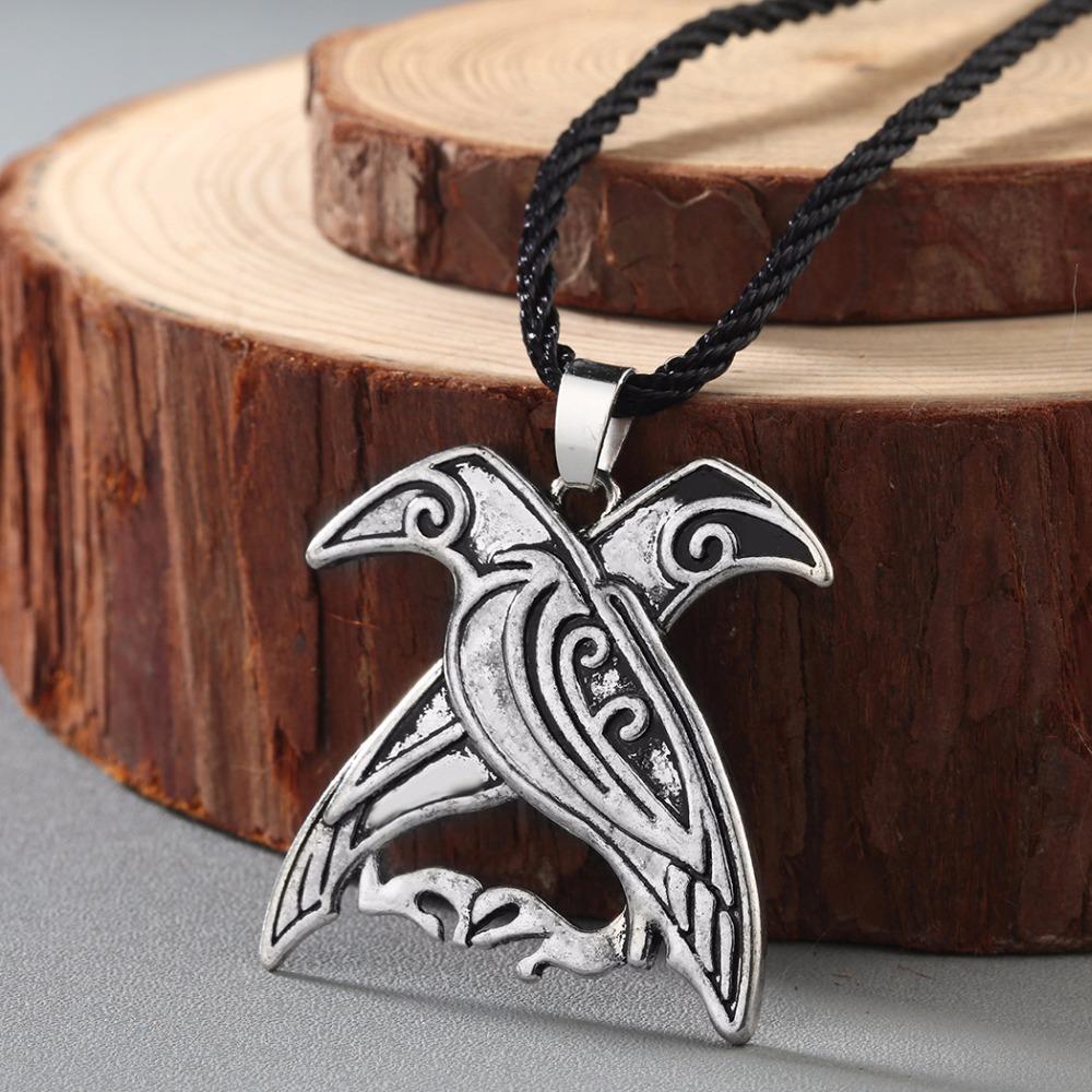 Odins ravens pendant bird talisman necklace mythology merchant odins ravens pendant aloadofball Gallery