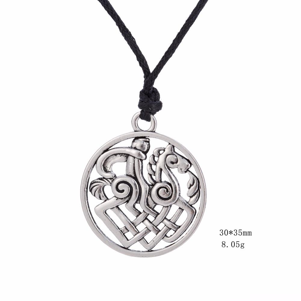 Sleipnir Horse Odin Viking Necklace Gothic Jewellery Mythology