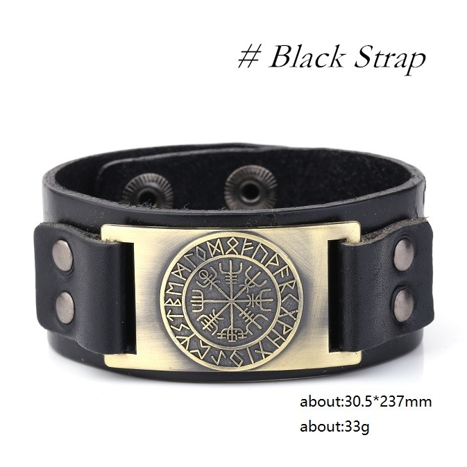 Old Norse Vegvisir Rune Symbol Wrist Band Mythology Merchant