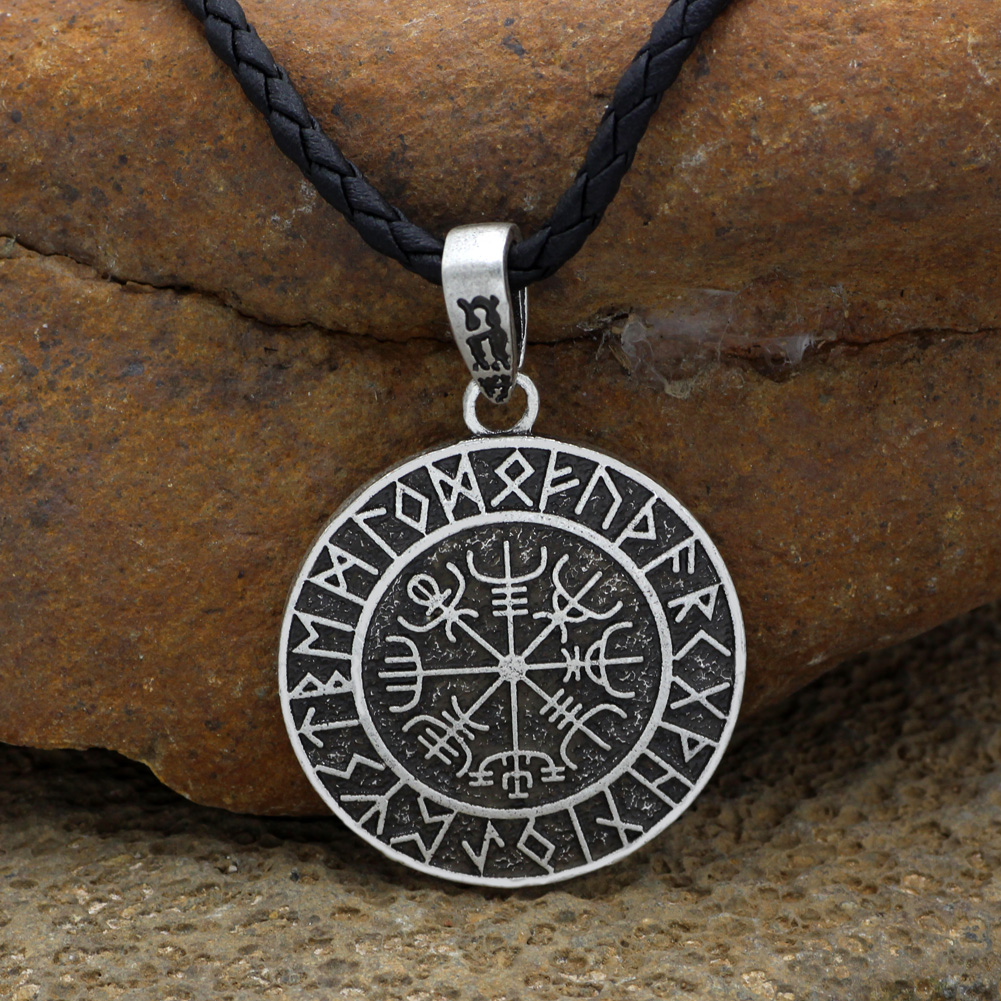 Old norse helm of awe rune symbol coin necklace mythology merchant old norse helm of awe rune symbol coin necklace aloadofball Images