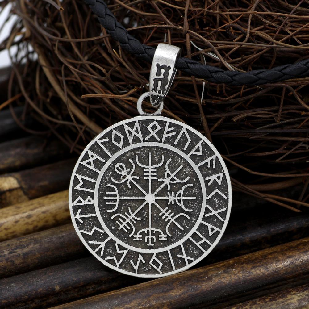 Old Norse Vegvisir Rune Protection Coin Talisman Mythology Merchant